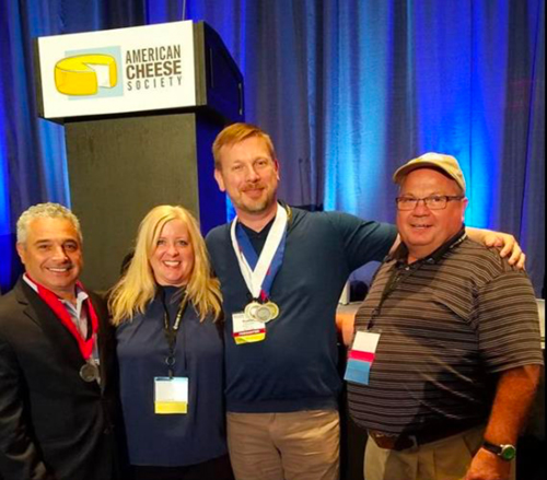 Pictured are Prairie Farms Cheese Division Attendees from L to R: Joe Parente, Jill Ellingson, Rueben Nilsson, and Jeff Jirik