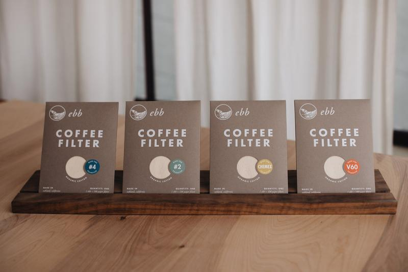 Ebb cloth coffee filters are the latest line of products from GDS Cloth Goods