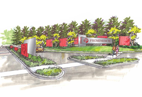 Artist's Rendering of the Prominence Office Park