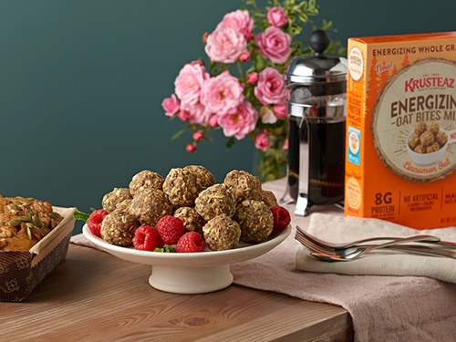 Krusteaz recently launched its new Energizing Oat Bites Mixin two varieties: Chocolate Chip Oat and Cinnamon Oat