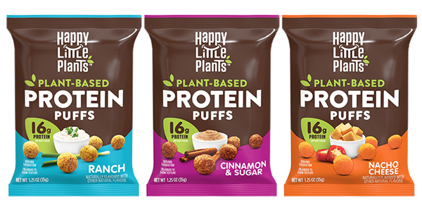 Hormel Foods has reimagined protein with its Happy Little Plants® brand's newest product: plant-based protein puffs