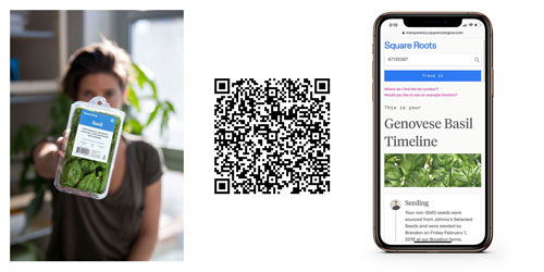 Customers can scan a QR code on packaging to trace how their food was grown and who grew it