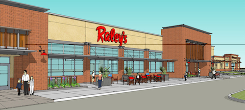 Rendering of the proposed location from Raley's.