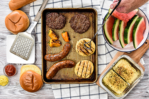Champignon North America's Rougette Bonfire – Cheeses for Grilling line offers two grilling cheese options