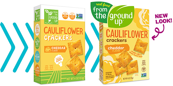 Designed to attract a broader consumer audience, REAL FOOD FROM THE GROUND UP®'s brand refresh increases shelf presence and makes it easier for shoppers to see the veggie and nutritional call outs