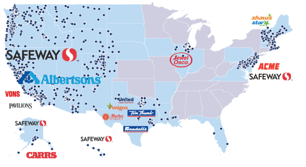 Albertsons Companies Regional Banners (as of June 20, 2015)