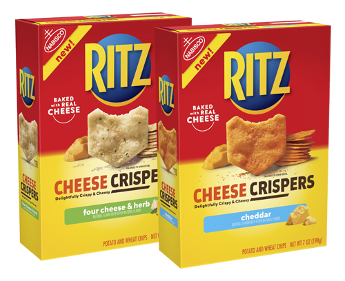 RITZ® continues to build a foundation for brand loyalty with the innovative introduction of new flavorful, thin, and crispy snacks: RITZ Cheese Crispers