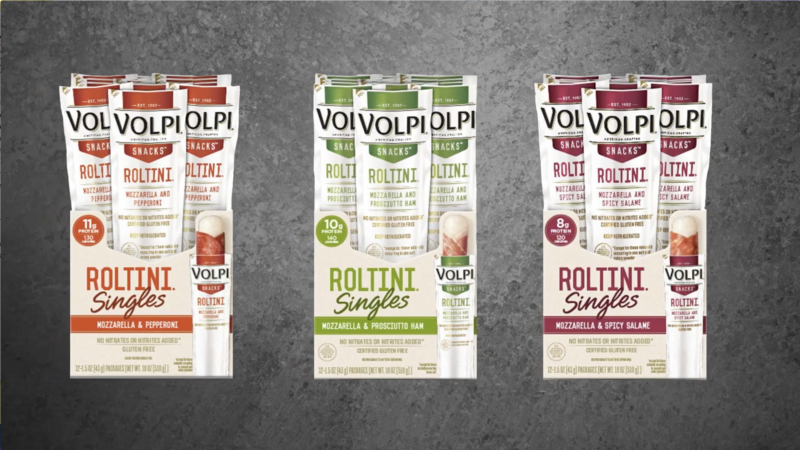 Volpi has rolled out a five-pack roltini, which is now in a retail size pack, and is an addition to the single-serves already available