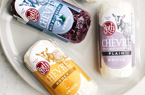 The product is available in plain and seasonal flavors—including Classic, Honey, Peppercorn, Garlic & Herb, Rolled Cranberry, and Wild Blueberry