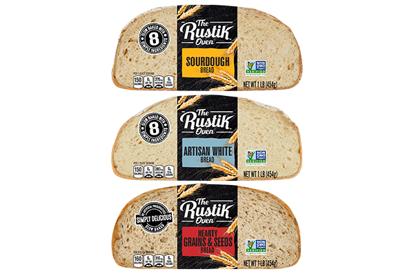 The Rustik Oven™ brand will display its three distinct artisan bread varieties that are set to expand nationally in 2020