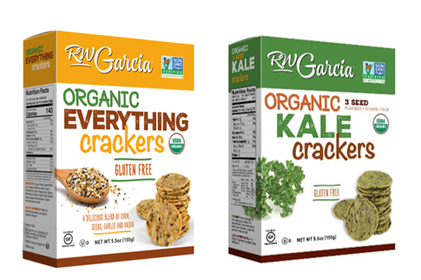 RW Garcia is debuting two new organic cracker varieties to its program this fall—Organic Everything and Organic Kale