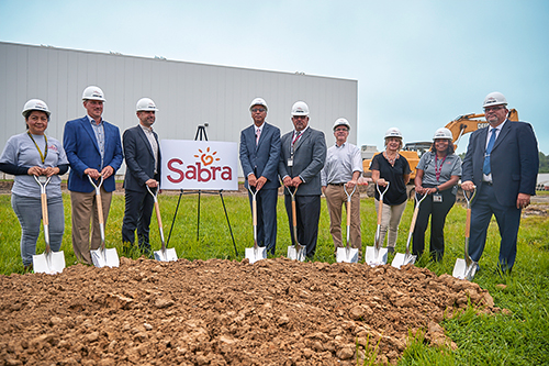 Sabra Executives and Local Officials break ground on the new expansion