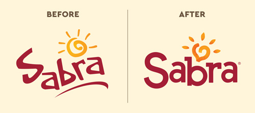 Sabra logo before and after