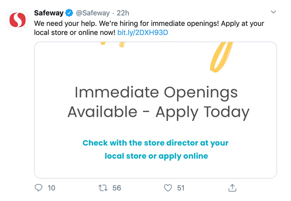 Retailers and grocers like Safeway have announced massive hirings to keep up with the sudden demand and fortify the supply chain