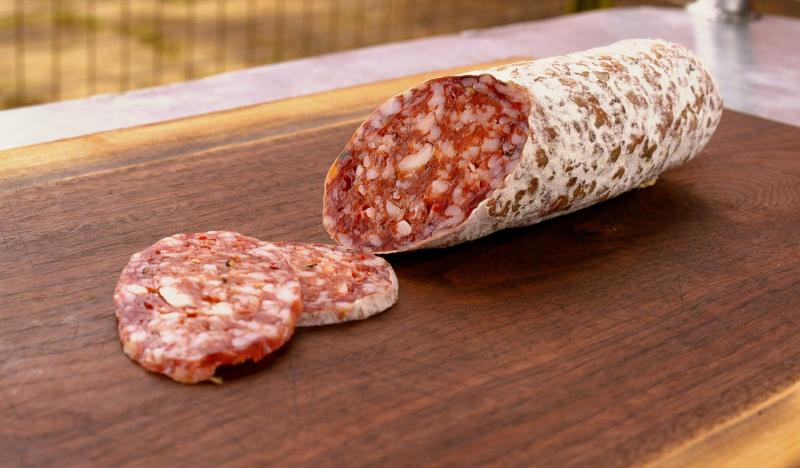 Young, fresh salami stands out from other salami with its softer texture, smaller diameter, and unique flavor