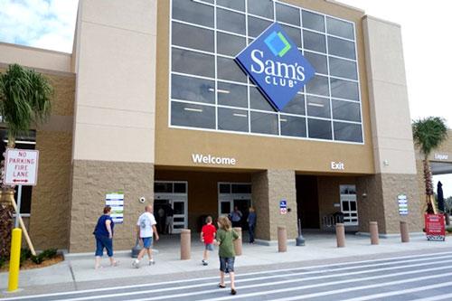 Sams Club storefront