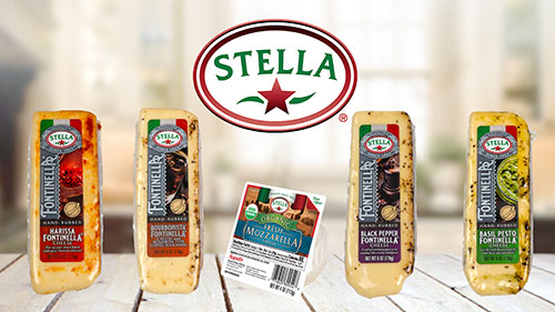 Stella® Fontinella® hand-rubbed wedges and Fresh Mozzarella