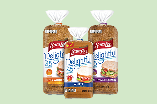 Bimbo Bakeries is rolling out Delightful® White Made with Whole Grain Bread under its Sara Lee® Delightful® Bread line, complete with a sleek new design