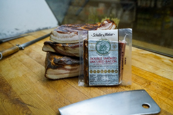 Schaller & Weber is introducing a new product launch: Double Smoked Uncured Bacon