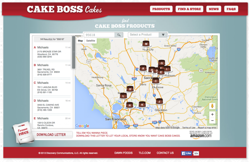 http://cakebosscakes.com/stores.html