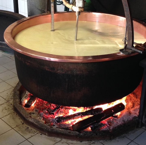 Alpine cheeses are made in large copper cauldrons