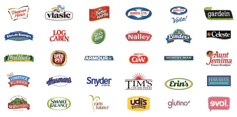 Brands owned by Pinnacle Foods