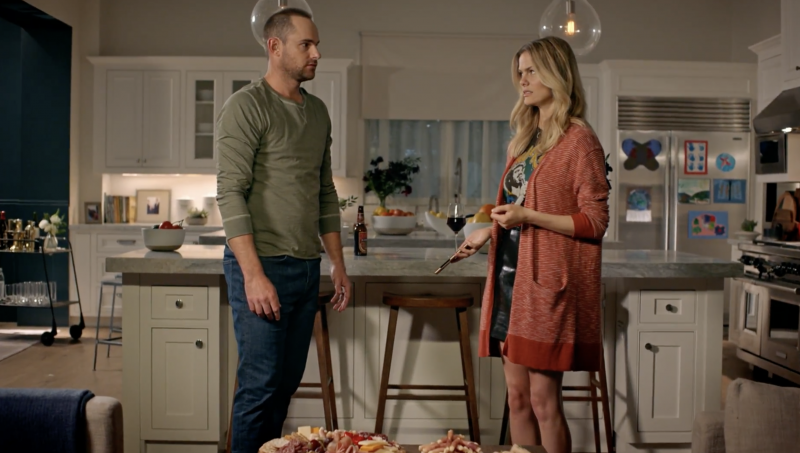 "Model Brooklyn Decker and tennis player Andy Roddick in Dietz & Watson's ""Game Night"" spot"