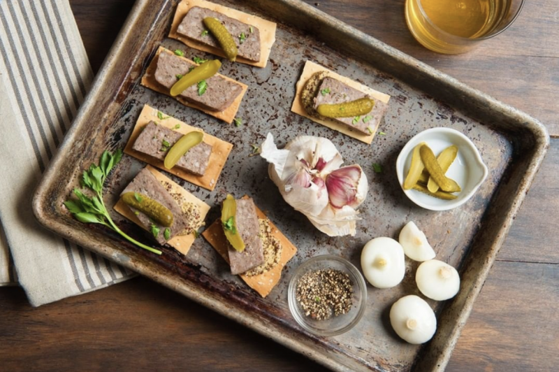 Pâtés make a wonderful treat either on its own, with bread and crackers, or on a charcuterie board