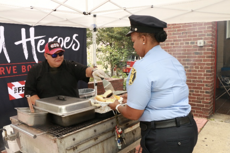 Cargill partnered with TGI Fridays to honor the men and women who serve as first responders