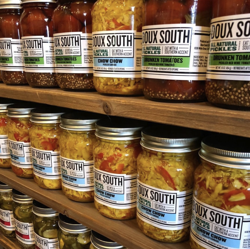 """The Southern art of """"putting vegetables up for the winter"""" inspired Chef Melvin to make unique based brines for each product that would elevate the flavor of the vegetables with culinary vinegars, herbs, and spices"""