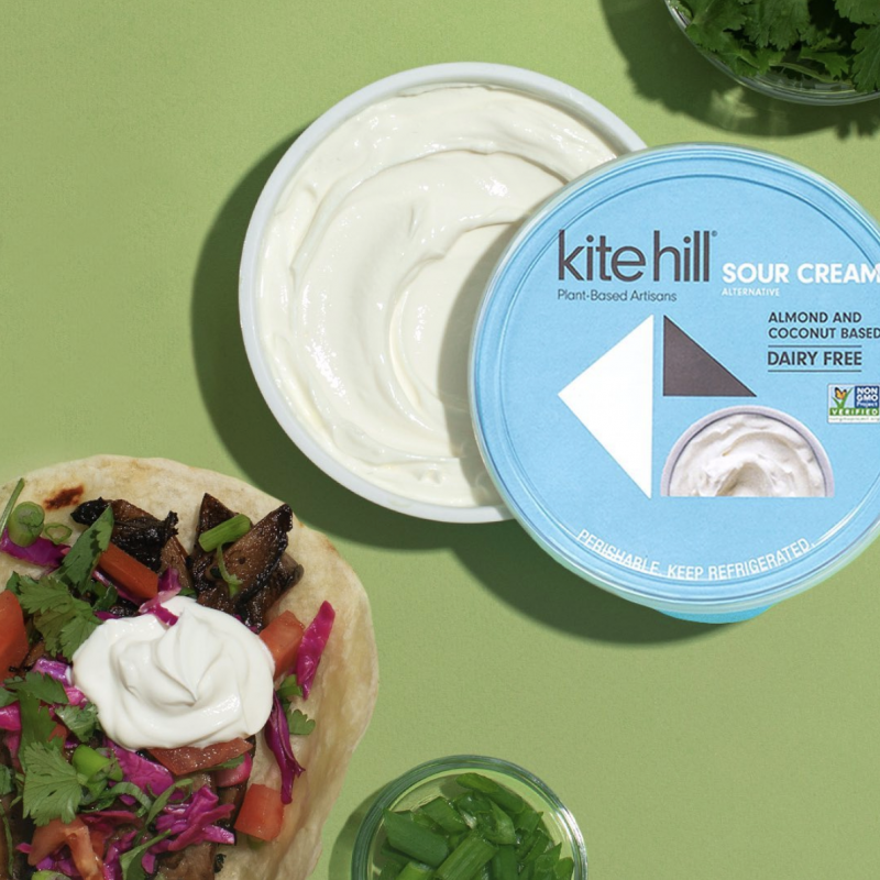 In addition to its new plant-based yogurt line, Kite Hill® recently launched a Sour Cream Alternative made with a unique blend of creamy coconut and almond milk
