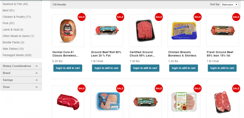 Deli Offerings on Hy-Vee Online Aisles