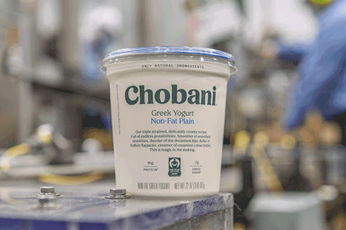 Chobani is releasing Fair Trade Certified™ Greek yogurt versions for all of its 32 oz, multi-serve tubs, including Whole Milk Plain, Low Fat Plain, Non-Fat Plain, Strawberry Blended, and Vanilla Blended