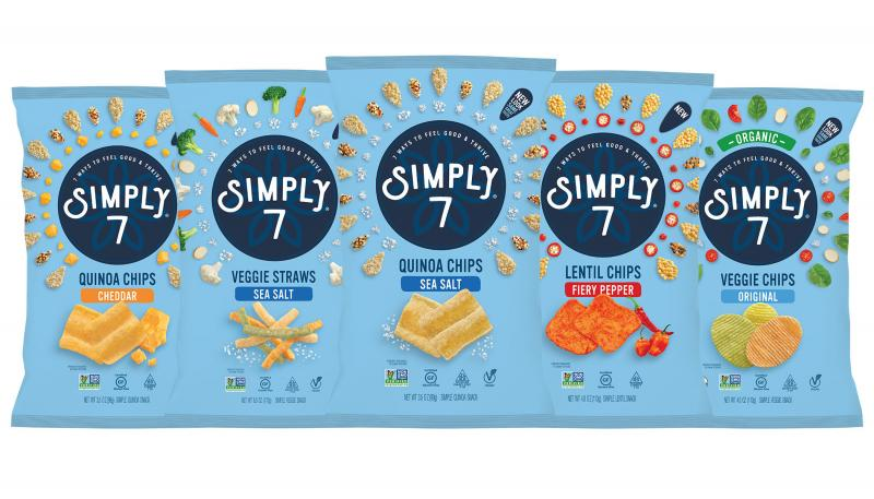 Simply 7 Snacks recently rebranded its entire line while introducing two new product innovations