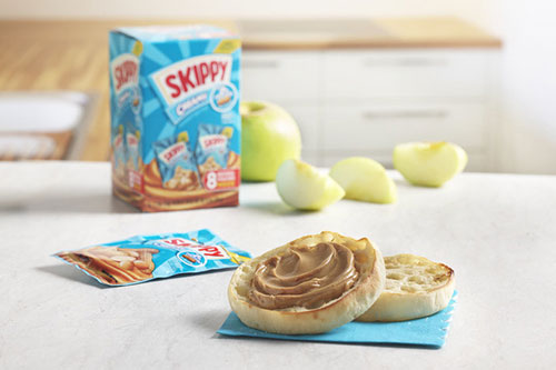 SKIPPY's new individual size packs are perfect for the on-the-go snacker