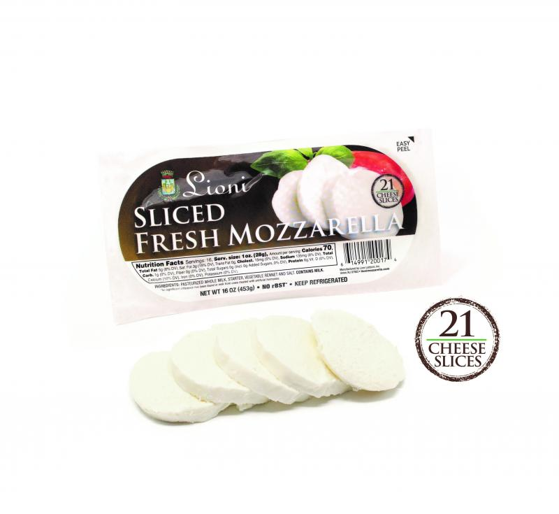 Lioni recently launched a new convenience-forward product featuring pre-sliced mozzarella in a new, easy-to-open package with a fresh look