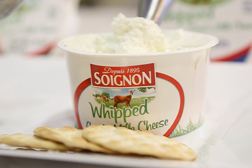 Soignon unveiled a new Whipped product made with 100-percent goat milk and available in two flavors