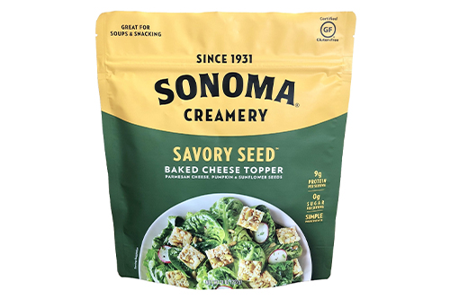 Sonoma Creamery's new Savory Seed Baked Cheese toppers are now available at select Costcos in Northern California