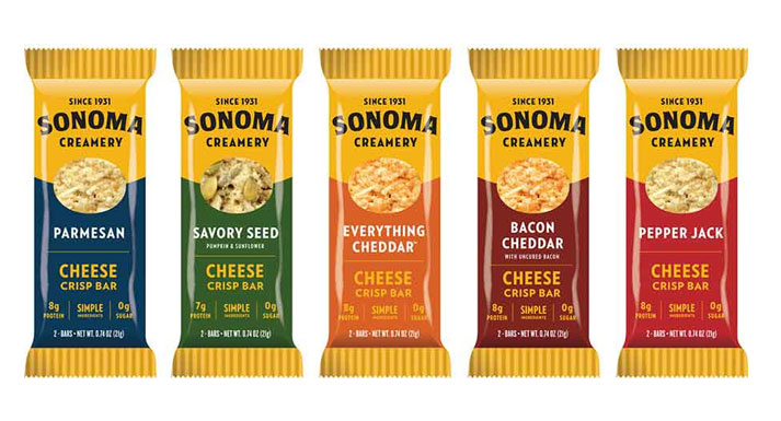 The bars are available in five flavors: Parmesan, Everything Cheddar, Pepper Jack, Savory Seed, and Bacon-Cheddar