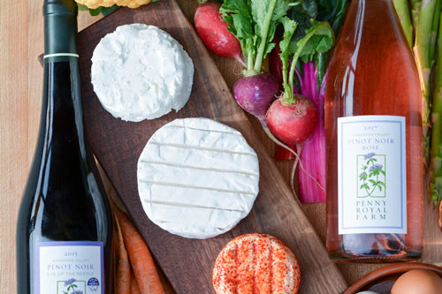 Pennyroyal Farms wine and cheese