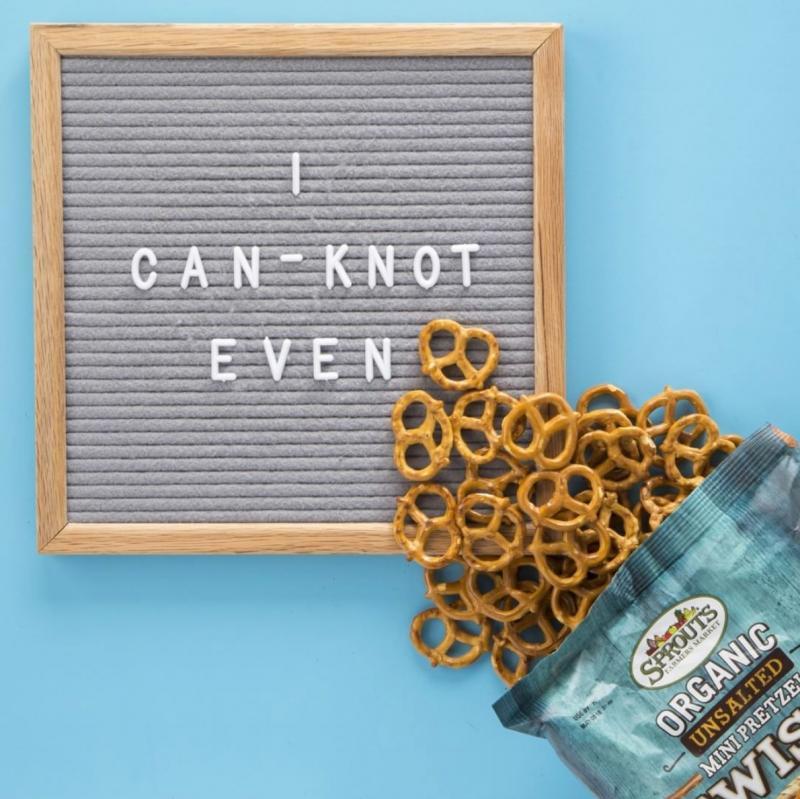 Sprouts pretzels