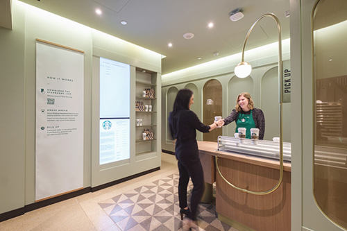 Starbucks announced it is unleashing plans to blend its traditional sit-and-stay café with a more digital, convenience-led format that will include drive-thru and curbside pickup options (Photo Credit: Starbucks)