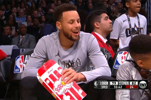 Stephen Curry's dedication to popcorn is unrivaled in the NBA, and he has even ranked stadium popcorn, crowning the Dallas Maverick's stadium supreme (source ESPN)