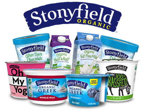 A variety of Stonyfield's products.