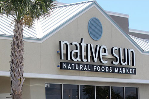 The Native Sun store now offers a restaurant, grab-and-go area, and a full-service salad and soup bar