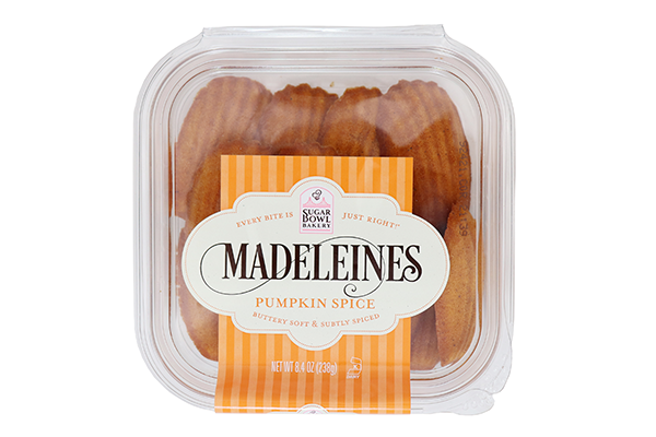 Sugar Bowl Bakery™ is introducing its fall season lineup this month, which will include limited-time offerings of Pumpkin Spice Madeleines and Pumpkin Spice Blondie Duet Bites