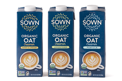 SunOpta is debuting its new SOWN™ coffee creamer brand, which is made with oat milk