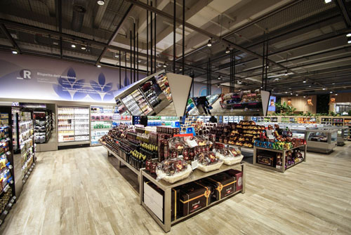The Supermarket of the Future in Milan, ITA. Photo courtesy Carlo Ratti Associati.