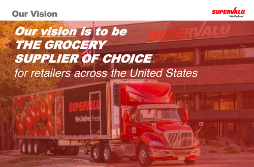 A slide from SuperValu's investor presentation