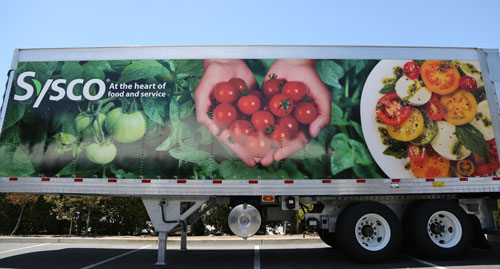 Sysco truck at PMA Foodservice Convention